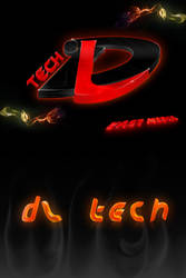 DLTECH 3d logo and name by VastMedia