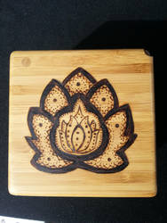 Henna Lotus Flower Salt Box by CapturedMuseArt