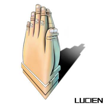 Hugging Prayer Hands by LucienMathieu