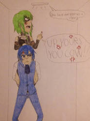 Angry Sinners in an Elevator by TomboyJessie13