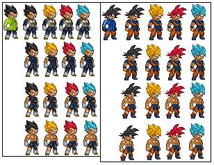 Dragon Ball Super Broly Goku And Vegeta Sprites By Anythespritemaker