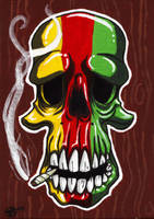 Ene's Rasta Skull by grimcinder