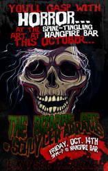 Art Show at Hangfire Bar by grimcinder