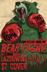 Bear Fight Album Release Poster by grimcinder
