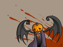 A Gloomy Halloween - Wallpaper by grimcinder