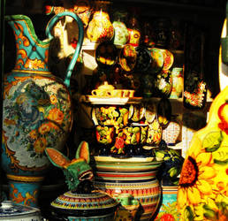 Ceramics Shop in Vietri by Hunabku13