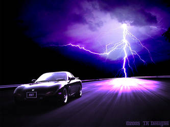 Lightning Chases RX7 by TK-Designs