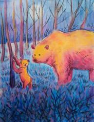 Bear and cub by muhvu