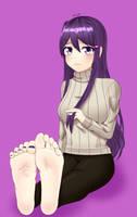 Yuri timid feet [Commission] by Ghawkg