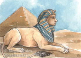 Egyptian Sphinx ACEO by Pannya