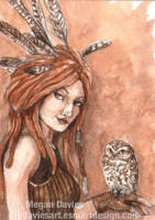 Owl Shaman by Pannya
