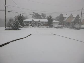 Snowy street by 4chocolatemew