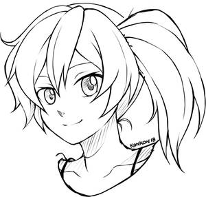 Sketch_Ayame by KarraKon