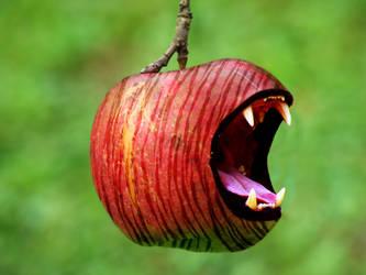 Biting apple by ShangyneX