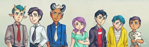 Heaven and Hell Family Line-Up by trowicia