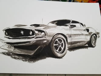 1969 Ford mustang 429 boss by Thaediem