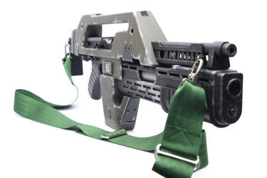 Custom Airsoft M41a Aliens Pulse Rifle 7 by SuicideNeil