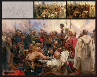Master study :  Ilya Yefimovich Repin  by ali-kiani-amin