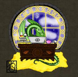 The dragon author by hildur-k-o