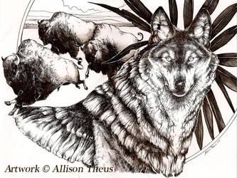 Buffalo Wolf by beastofoblivion