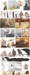 Character SketchDump 6 by beastofoblivion