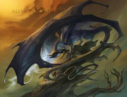 Dark Dragon by beastofoblivion