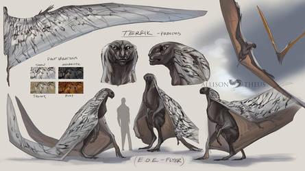 EOE: Terrik (Flyer) by beastofoblivion