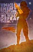 Mass Effect Posters - Shepard by A-negative