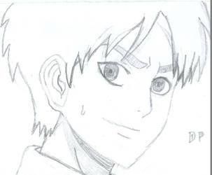 Quick Eren Sketch by DarkPhoenix19