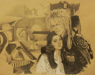 David Bowie, The Goblin King by Berdyflyer