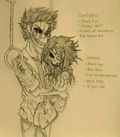 More Darkiplier and Johnna by Kerry-Sene