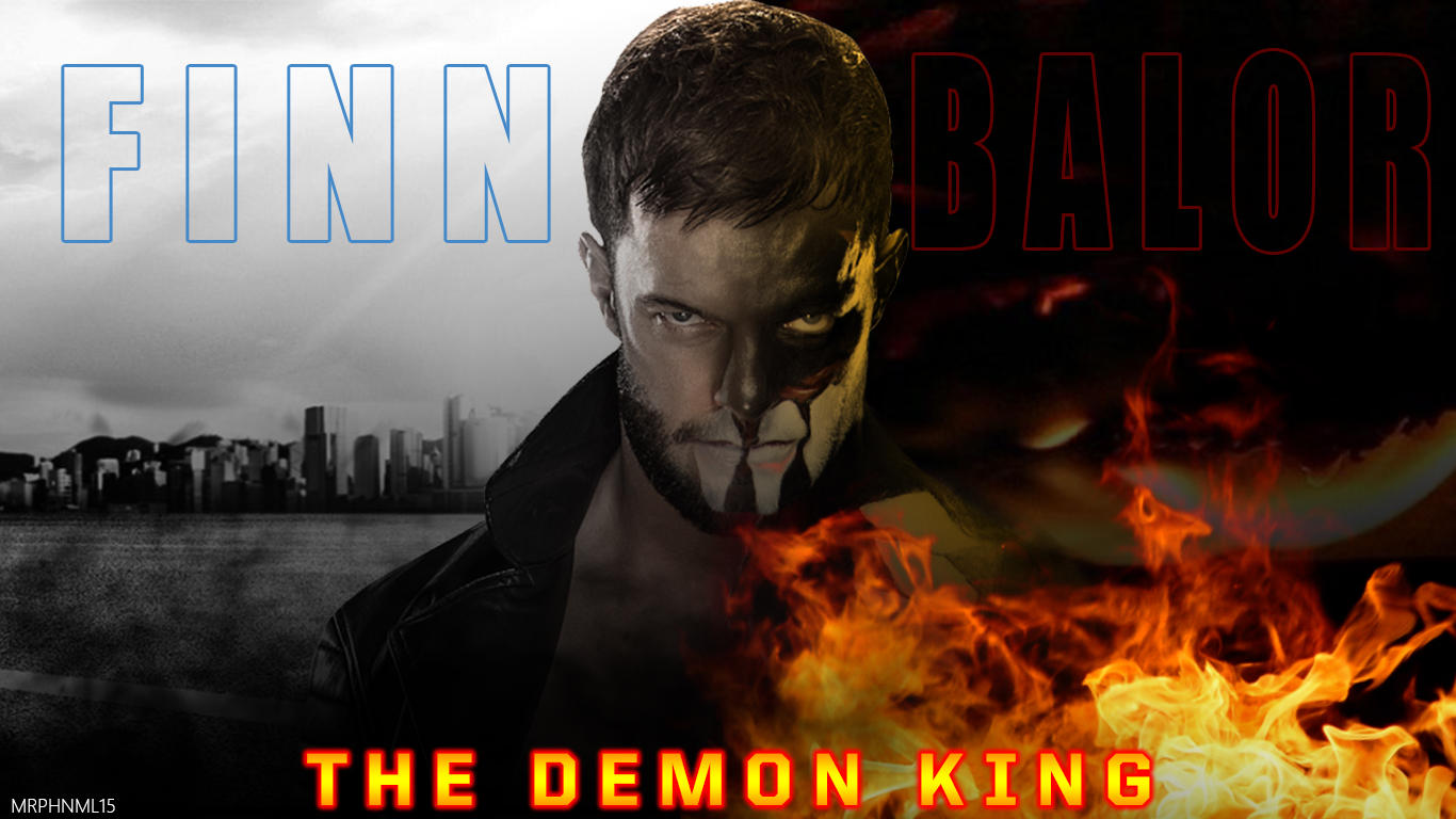 Finn Balor The Demon King Wallpaper Made By Me By Mrphenomenal15