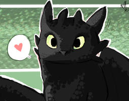 HTTYD . Toothless by starchiishio