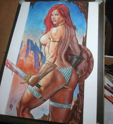 Red Sonja  by FabianoArts
