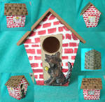 The Three Little Pigs Bird House by sweetpie2