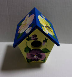 Another Pansy Birdhouse by sweetpie2