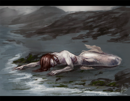 dead mermaid by radacs