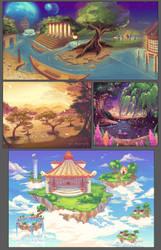 Backgrounds 01 by ofSkySociety