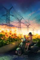 Original Art - Sunflowers by ofSkySociety