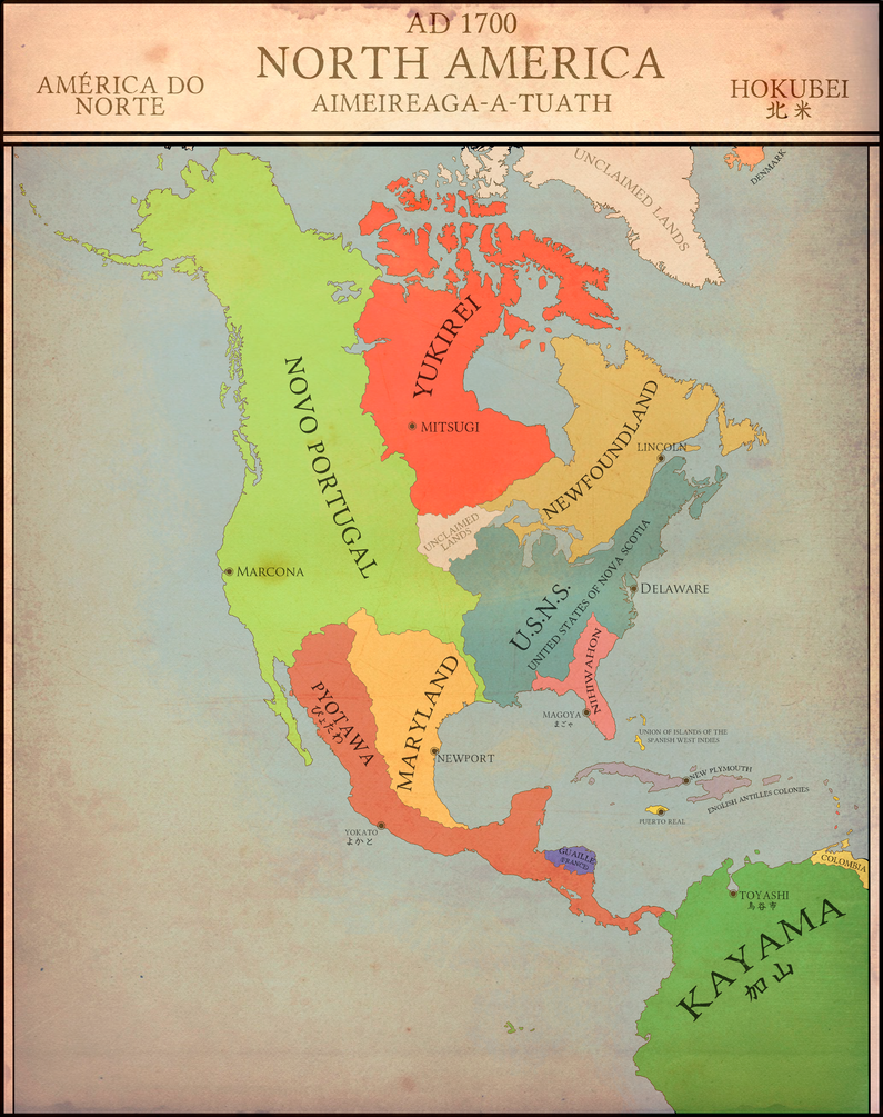 North America 1700 : EUIV Japan Campaign by Fridip on DeviantArt
