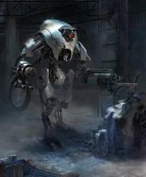 SF robot concept by Jy-Kim
