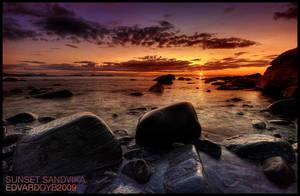 Sunset Sandvika by dr-phoenix