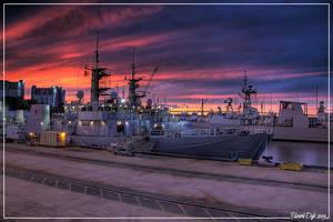 Halifax Sunset by dr-phoenix
