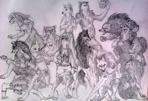The thirteen tribes by blackunia