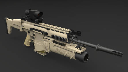 FN SCAR-H assault rifle by Shakdo