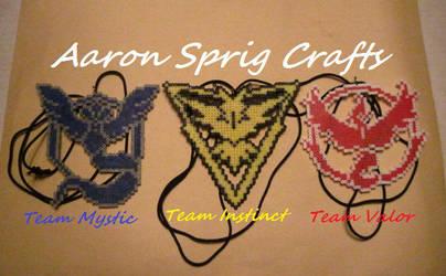 Pokemon Go Team Logos by aaron-sprig