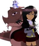 Dragon Tamer Amy (Oc) by DinoLover123