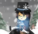 Chibi Emily (Oc) Snow Storm! by DinoLover123