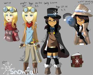 Snowfall-Miyoko and Emily (Oc) by DinoLover123