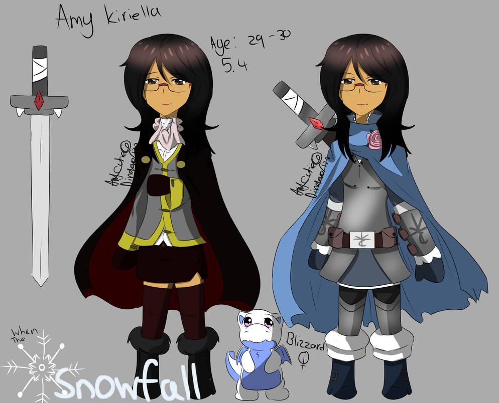 Snowfall-Amy (Oc) by DinoLover123